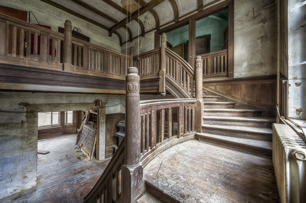 Wood Is The New Black Staircase Inside An Abandoned Villa In Germany By  Brian