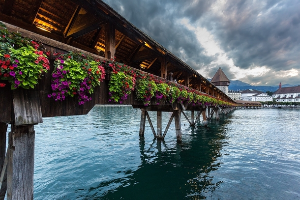 Wooden Bridge Lucerne - Switzerland