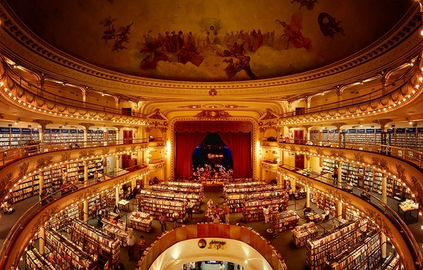 -Year-Old Theatre In Buenos Aires Turned Into An Amazing Bookstore