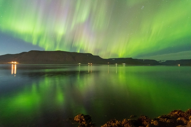 Yukon wasnt the only place to have an amazing light show last night Northern Lights in ingeyri Iceland