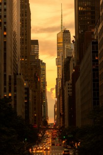 42th St New York by Sunset Noir