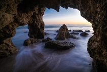 A cave at El Matador State Beach Malibu California  x