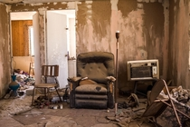 A house that belonged to someone named Rita in Bombay Beach California She left the phone book on the chair