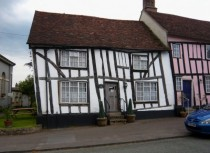A leaning medieval house in Lavenham England