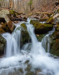 A little cascading stream I took a long exposure of in Shartlesville PA along the Tom Lowe Trail