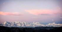A picture of the Himalayan range I took on my visit to Almora Uttarkhand in India