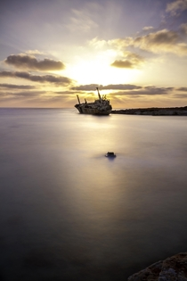 A ship off the south coast of Cyprus