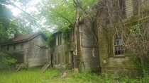 Abandoned employee houses from a mill closing decades ago in Maryland