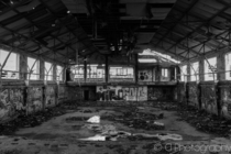 Abandoned hanger at RMS Royal Arthur UK