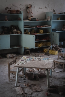 Abandoned Kindergarten Classroom in Pripyat taken by me