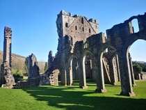 abandoned priory in Llanthony Wales Resolution unknown