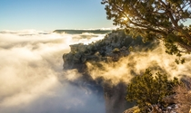 am temperature inversion Grand Canyon