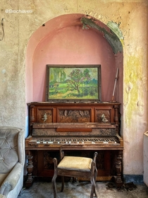 An Abandoned Piano slightly out of tune