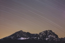 and  captured in one photo min exposure  Durmitor Montenegro