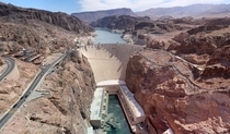 As promised the Hoover Dam as seen from the previously posted Pat Tillman Bridge x