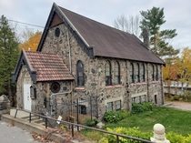 Bala Stone Church made of Muskoka Fieldstone and thick layers of mortar Located in Central Ontario