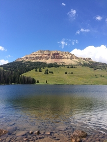 Beatiful pic I snapped while fishing at Beartooth lake Wyoming