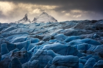 Blades of Grey on Patagonias Lago Grey Glacier