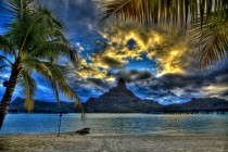 Bora Bora Golden Sunset by vgm8383