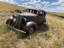 Chevy abandoned on the high plains