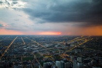 Chicago sunset by cmozz