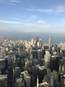 Chicago view from the Willis Tower