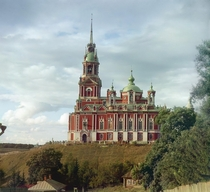 color photo of Cathedral of St Nicholas Mozhaisk Russia Photographer - Prokudin-Gorsky Built in - Architect - Alexei Bakarev