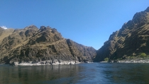 Convergence of the Snake and Salmon rivers in Hells Canyon At the border of Idaho and Oregon
