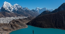 days trek from Everest Base Camp gorgeous Gokyo Lake in the heart of the himalayas