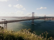 de Abril Bridge in Lisbon  x