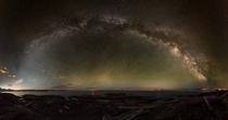 degree Milky Way panorama taken within the city
