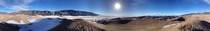 degree panorama from the top of the highest sand dune at Great Sand Dunes National Park in Colorado