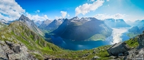 degree panorama of the Norangsfjord taken from Urkeegga Norway x OC IG gedded
