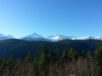 - degrees in British Columbia too cold for snow Sea to Sky Highway between Vancouver and Whistler