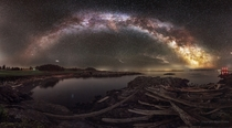 degrees Milky Way panorama taken from Victoria BC