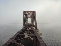 Dilapidated Bridge in New Brunswick taken by phone while camping
