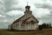Early th century abandoned church in Saskatchewan Canada