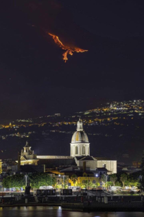 Eruption on Etna creates a view which is like a Phoenix
