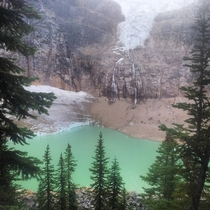 Excuse the crappy quality This is Angel Glacier in Jasper National Park I would highly recommend seeing it before it completely vanishes