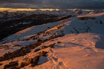 Fantastic light and mediocre skiing All time sunset on Vail Pass last eve x