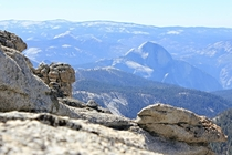 feet above Half Dome is towering Mount Hoffman providing a  degree panoramic view of Yosemite and the Sierra Nevada range