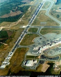 flights grounded by the - attacks lined-up on a runway at Halifax International Airport Nova Scotia  This was removed from rhistoryporn for being too new