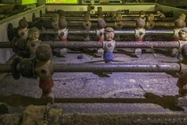 Foosball table inside of an abandoned house Nashville IN