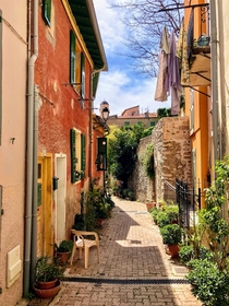 France - Villefranches-sur-Mer - View of this pretty village on the French Riviera