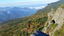 Grandfather Mountain NC looking northwest in early Autumn