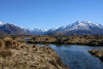 Hakatere Conservation Park New Zealand At the base of Mt Sunday aka Edoras one of the many iconic filming locations from the Lord of the Rings films x cropped