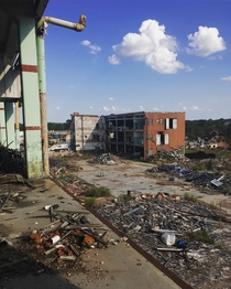 Half-Demolished Crystal Springs Textile Mill