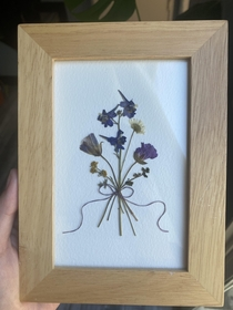 Handmade pressed bouquet with some SoCal wildflowers I picked