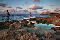 Havana Cuba   Kah Kit Yoong  Fishermen at sunset