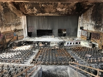 Horace Mann high school auditorium it used to be in pretty great condition for being abandoned Sadly I didnt get to see it in its original state arsonists had set fire to it about a week prior Sad when people destroy the beauty of whats abandoned